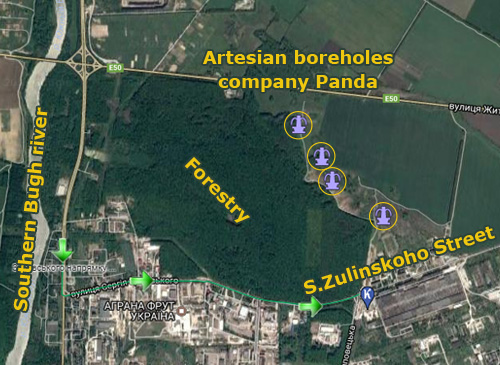 Artesian boreholes of Panda manufacturing enterprise